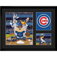 Chicago Cubs MLB Limited Edition Lithograph Featuring The Looney Tunes As Chicago Cubs