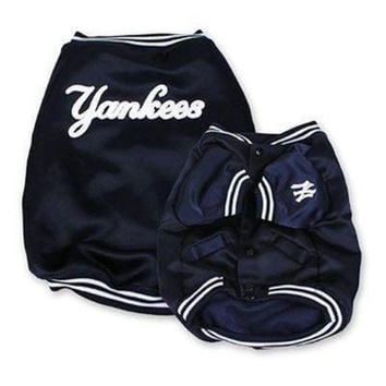 qiyif New York Yankees Dugout Dog Jacket