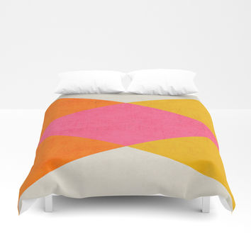 summer triangles Duvet Cover by her art