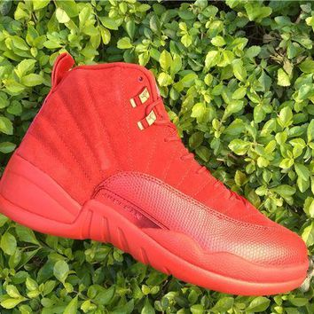 One-nice™ AIR JORDAN 12 (RED OCTOBER - SUEDE) BASKETBALL SNEAKER I