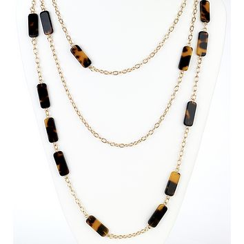Layered Tortoise Chain Necklace