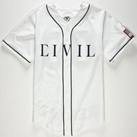 Civil Regime Mens Baseball Jersey White  In Sizes