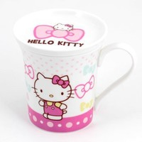 Hello Kitty Ceramic Mug with Lid