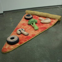 Slice of Pizza Sleeping Bag with optional toppings