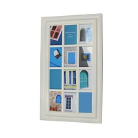 """29"""" Cream White Photo Picture Frame Window Collage Wall Decoration"""