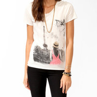 Gazing Paris Girl Tee