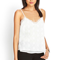 Embroidered Eyelet & Lace Cami