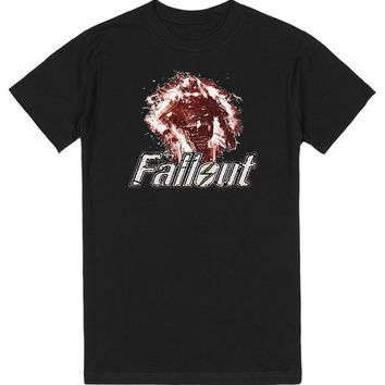 Fallout inspired Power Armour Brotherhood Soldier with logo | T-Shirt | SKREENED