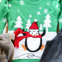 Scamper Penguin Christmas Sweater