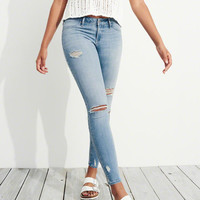Girls Advanced Stretch Low-Rise Jean Leggings | Girls Bottoms | HollisterCo.com