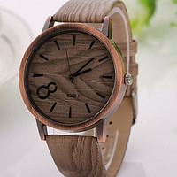 Mahogany - Modern Luxury Leather and Wood face watch - 4 Variations - The Man Cave