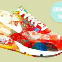 "AIRMAX 90 (Part of the 'Oh, I'm A Sneakerhead' Series) 8x10"" Digital Illustration Print by MOPS"