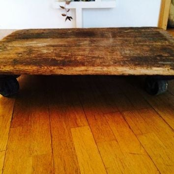 Vintage industrial cart / coffee table