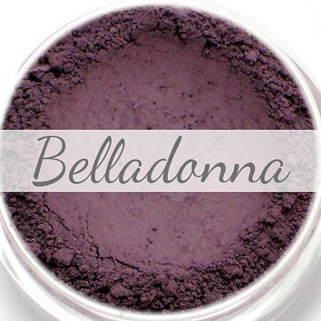 "Eyeshadow Sample - ""Belladonna"" - matte dark eggplant/aubergine purple color (Vegan) Mineral Makeup Eye Color Pigment"