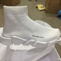 ONETOW balenciaga sock sport running good quality red yellow speed trainer casual shoe man woman sock shoes sneakers boots with box stretch knit casual boots race runner cheap sneaker high top 2