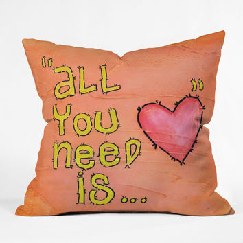 Isa Zapata All You Need Is Love Throw Pillow