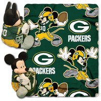 Green Bay Packers NFL Mickey Mouse with Throw Combo