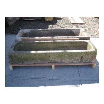 18th Century Carved Stone Trough