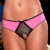 Crotchless Frills Panty With Back Bows