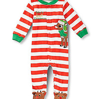 Baby Starters 3-9 Months Baby's First Christmas Striped Footed Christm