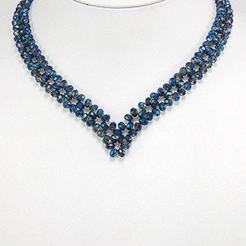 Party wear Crystal Glass Trendy Necklace
