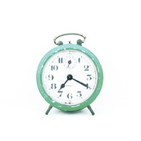 """SALE 50% OFF / Pale green """"BAYARD"""" Clock from the 1960s / Made in France"""