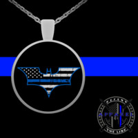 Thin Blue Line DK Necklace For Women
