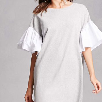 Puff-Sleeve Sweatshirt Dress