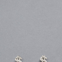 Money Talks Jeweled Dollar Sign Earrings GoJane.com