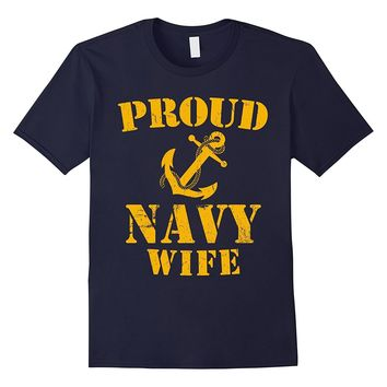 Proud Navy Wife T-shirt US Navy Military T-shirt