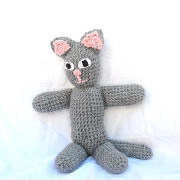 Crochet Stuffed Cat by RopeSwingStudio on Etsy