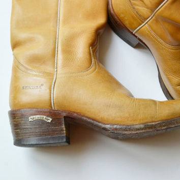 sendra- leather boots mens