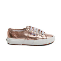 Rose Gold Lace Up Sneakers