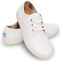 WHITE SYNTHETIC LEATHER WOMEN'S PASEOS