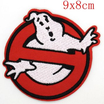 New Ghostbuster victory Movie Game Cartoon Comic Patch Sew Iron on Embroidered Applique Sign Vest Jackt T shirt Costume Gift