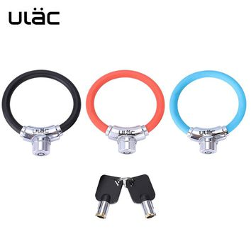 ULAC Zinc Alloy Security Key Bike Lock Horseshoe Cable Lock Coaster Anti-theft Small Ring For Bicycle With 2 Keys Safety Protect