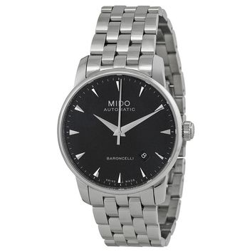 Mido Baroncelli Automatic Black Dial Stainless Steel Mens Watch M86004181