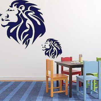 Wall Stickers Vinyl Decal Lion King of Beasts Brave Huge Mane Unique Gift (n202)