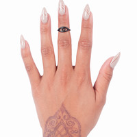 Black Third Eye Midi Ring