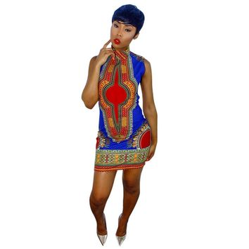 New Summer plus size African Print Dashiki dress for women dresses africa clothing traditional Ladies dress fashion designs
