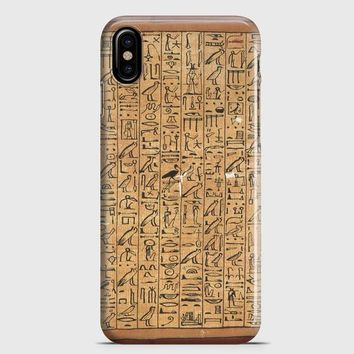 Egyptian Hierogylphics iPhone X Case | casescraft