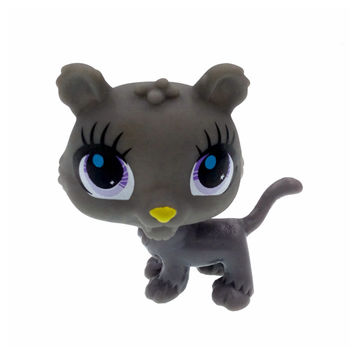 High Quality Children Toy Cartoon Littlest Pet Shop Gray Dog LPS Action Figure Kids Birthday Christmas Gift Brand Classic Toy