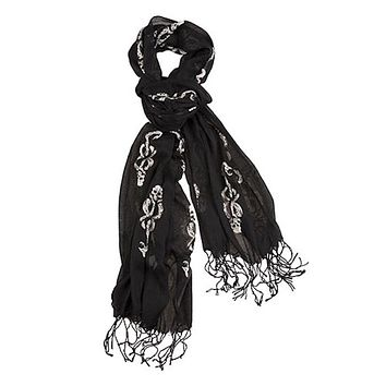 Universal Studios Harry Potter Repeating Dark Mark Ladies Scarf New with Tag