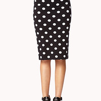 Retro Polka Dot Midi Skirt