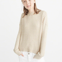 Womens Boxy Ribbed Pullover   Womens New Arrivals   Abercrombie.com