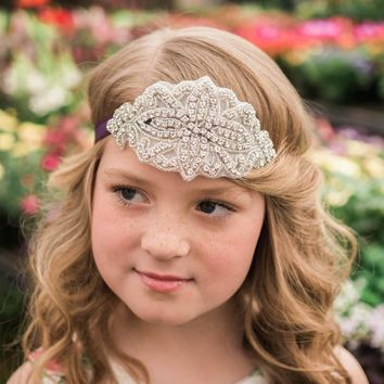 Josephine Dark Purple Crystal Jewel Headband