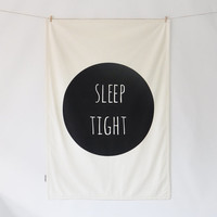 Modern Baby Blanket, Newborn Blanket, Modern Nursery Gift, Sleep Tight
