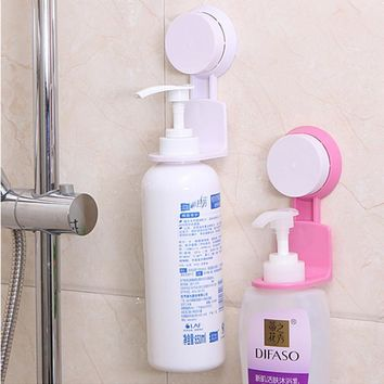Strong Suction Cup Shower Gel Shampoo Bathroom Wall Rack Hooks Stand Organizer