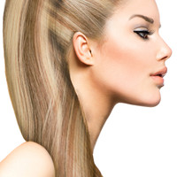 """18"""" Clip In Hair Extensions: No P8-24 Light Brown/ Golden Blonde"""