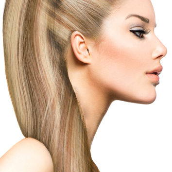 """16"""" Clip In Hair Extensions: No P8-24 Light Brown/ Golden Blonde"""